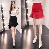 5375春夏季提臀魚尾裙半身裙女大碼顯瘦包臀短裙職業裙KT1F-072依佳衣