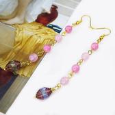 【粉紅堂 飾品】甜美古董珠珠長耳環 *粉紅色*