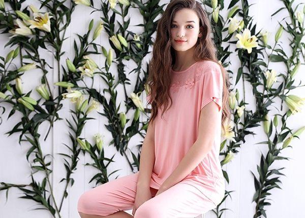 夏季新品睡衣女甜美家居服夏天薄款套裝 -swe0033
