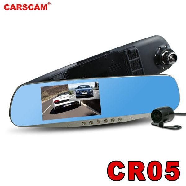 【CARSCAM】行走天下 CR05 雙鏡頭後視鏡行車記錄器 送 16G記憶卡
