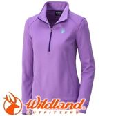 【Wildland 荒野 女款 雙色輕量保暖上衣 粉紫】0A32601/保暖上衣/長袖上衣/保暖上衣★滿額送