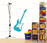 壁貼【橘果設計】電吉他 DIY組合壁貼/牆貼/壁紙/客廳臥室浴室幼稚園室內設計裝潢