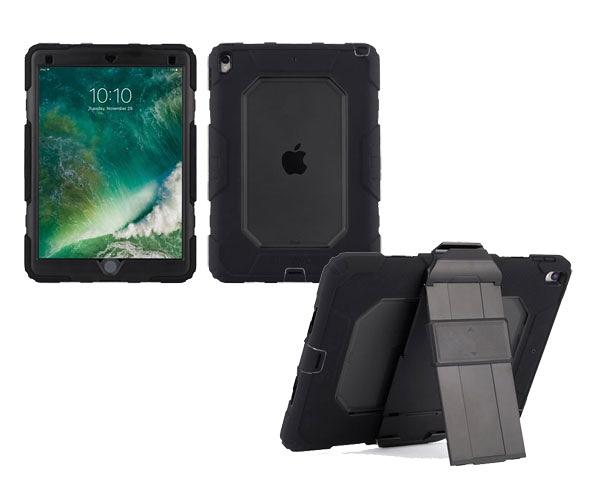【唐吉】Griffin Survivor All-Terrain iPad Pro 10.5 四重防護保護套組, 黑/霧透黑