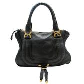 Chloe 克羅伊 黑色牛皮手提肩背包 Marcie Shoulder Handbag 【BRAND OFF】