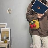 草編包丑萌可愛小包包女包新款2020潮百搭洋氣斜背包時尚流行側背編織包 交換禮物