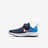 Nike Star Runner 3 (psv) [DA2777-401] 中童鞋 慢跑鞋 運動 休閒 透氣 魔鬼氈 藍