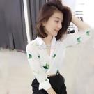 襯衣女新款春秋上衣長袖時尚韓版白色襯衫春秋顯瘦款雪紡衫潮