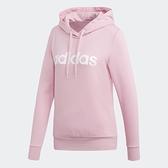 Adidas ESSENTIALS LINEAR 女裝 長袖 連帽 帽T 休閒 粉 【運動世界】DU0644