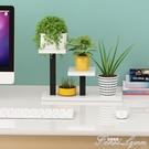 鐵藝多肉花架子陽台置物架室內辦公室桌面迷你多層植物小花架 HM 范思蓮恩