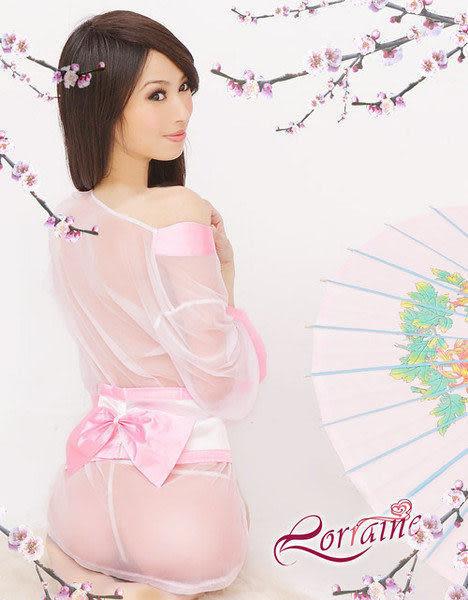 戀戀和服薄紗性感睡衣三件組(角色扮演cosplay系列)星光密碼H212-1