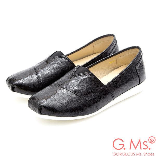 G.Ms. MIT系列-金屬繃帶造型懶人休閒鞋*黑色
