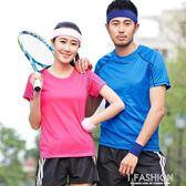 速干衣男短袖大碼女款跑步圓領寬鬆戶外情侶透氣夏季上衣運動t恤-Ifashion