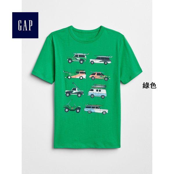Gap男童 妙趣圖案圓領短袖T恤 310527-綠色