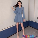 雪紡洋裝 連身裙春裝2021年新款雪紡仙女超仙森系束腰系帶收腰顯瘦氣質裙子寶貝計畫 上新