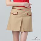 前開摺X假口袋設計短裙 Scottish House【AE2152】