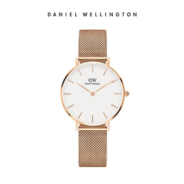 DW 手錶 官方旗艦店 32mm玫瑰金框 Classic Petite 香檳金米蘭金屬編織 - Daniel Wellington