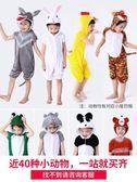 六一兒童動物演出服裝幼兒園大灰狼老虎小兔子小青蛙老鼠表演衣服  沸點奇跡