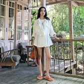 2018春秋新款短外套女韓版bf風白色小清新百搭收腰chic夏薄款風衣   LannaS