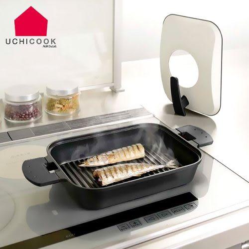 雙喬國際 日本製《逸品軒》UCHICOOK第二代日本製水蒸氣式健康蒸煮燒烤盤[金屬蓋]-黑 UCS15BK