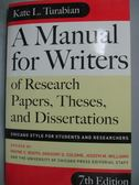 【書寶二手書T5/語言學習_ZIO】A Manual for Writers of Research…
