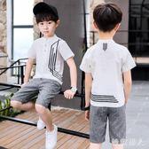 男童短袖T恤Polo夏裝2018新款兒童中大童男孩半袖 XW1085【極致男人】