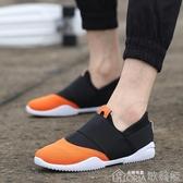 休閒鞋新款潮鞋春季潮流男鞋運動休閒鞋夏季襪子鞋透氣一腳蹬懶人鞋【快速出貨】