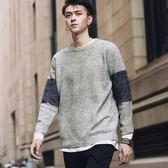 毛衣圓領純色針織衫韓版潮流套頭打底衫