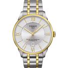 TISSOT 天梭 杜魯爾系列機械動力80手錶-銀x雙色版/42mm T0994072203800
