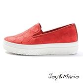 【Joy&Mario】大花朵透氣網布設計厚底休閒鞋 - 82018W RED