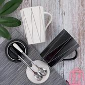 陶瓷咖啡水杯子辦公室馬克杯帶蓋勺家用【匯美優品】
