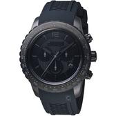 瑞士WENGER Roadster速度系列黑夜騎士三眼指針腕錶  01.0853.111