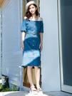 單一優惠價[H2O]可露肩兩穿顯瘦直筒中長版洋裝 - 黃/綠/牛仔藍色 #0684003
