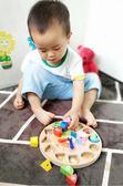 早教兒童益智力男女孩寶寶形狀配對時鐘積木玩具 萬客居