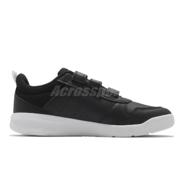 adidas 慢跑鞋 Tensaurus C 黑 白 童鞋 中童鞋 女鞋 小朋友 魔鬼氈 【ACS】 EF1092