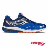 SAUCONY RIDE 9 緩衝避震專業訓練鞋款-灰x藍x橘