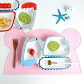 兒童小熊硅膠餐墊可愛隔熱墊防燙卡通耐熱餐桌墊創意家用  小時光生活館