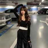 (下殺)春裝長袖T恤女短版修身假兩件【08SG06862】