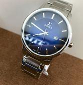 【名人鐘錶・實體店面】SIGMA 簡約素面大三針深藍鋼帶男錶x39mm藍・藍寶石水晶鏡面・1122M-3