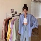 襯衫女設計感小眾韓版寬鬆高級質感上衣長袖襯衣【小酒窩服飾】