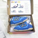 New Balance 兒童休閒鞋 NEW-B 學步鞋 小童鞋 魔鬼氈 寬楦 IONEWBBL 藍【iSport愛運動】