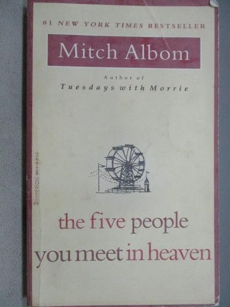 【書寶二手書T6/原文小說_MBW】The Five people You meet in heaven