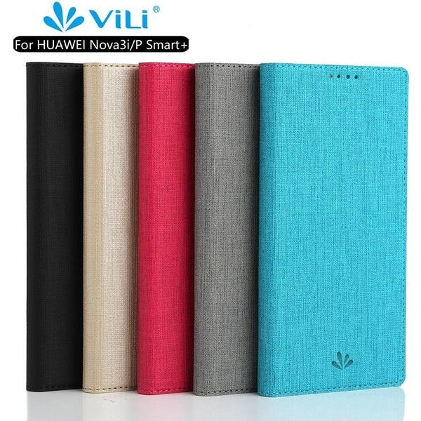Vili正品 華為Nova 3i 手機殼 內置軟殼 華為 Nova3i 磁吸保護殼 Nova 3i 全包側翻 插卡掀蓋殼