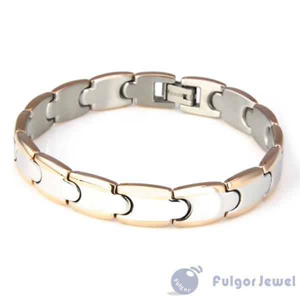316西德鋼 鋼飾 流行飾品 時尚情侶雙色手環【Fulgor Jewel】