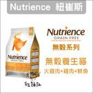 Nutrience紐崔斯〔無穀養生貓糧,火雞+雞+鯡魚,2.5kg,加拿大製〕