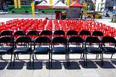 集樂城燈光音響-台北地區紅色塑膠椅出租每張 $55/日