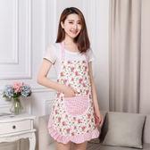 韓版時尚圍裙情侶圍裙全棉無袖廚房背帶