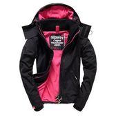 【蟹老闆】SUPERDRY 經典基本款 桃紅色內裡黑色外套 防風外套 防潑水機能性風衣外套 黑標 女款