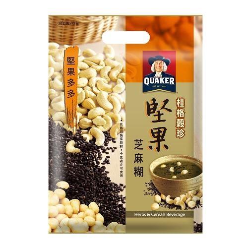 桂格穀珍堅果多多-堅果芝麻糊30g x12入/袋【愛買】