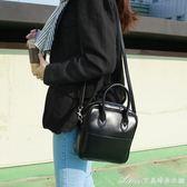 女包新款黑色亮皮手提包單肩斜背小包包簡約百搭小方包韓版潮艾美時尚衣櫥