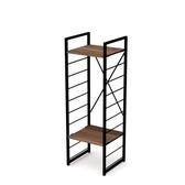 (組)特力屋萊特二層架黑框/深木紋-40x40x128cm